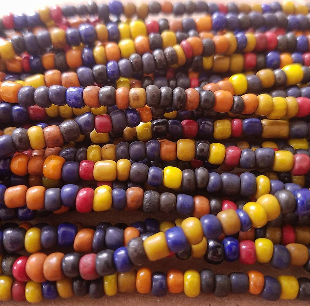 Bali Seed Beads Navy and Sunset Mix (4mm)