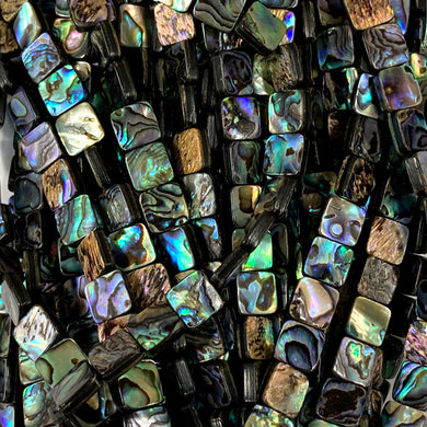 Abalone 8mm Square