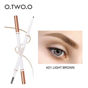 Oiko Store  01 light brown O.TWO.O Eyebrow Pencil Waterproof Natural Long Lasting Ultra Fine 1.5mm Eye Brow Tint Cosmetics Brown Color Brows Make Up