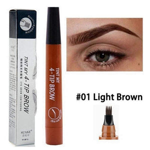 Oiko Store  01 Microblading Eyebrow Pen Waterproof Fork Tip Eyebrow Tattoo Pencil Long Lasting Professional Fine Sketch Liquid Eye Brow Pencil