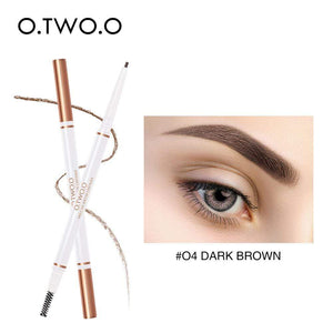 Oiko Store  04 dark brown O.TWO.O Eyebrow Pencil Waterproof Natural Long Lasting Ultra Fine 1.5mm Eye Brow Tint Cosmetics Brown Color Brows Make Up