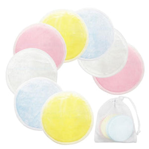Oiko Store  1/8/16/20pcs Reusable Cotton Pads Washable Make up Facial Remover Double layer Wipe Pad Nail Art Cleaning Pads with Laundry Bag