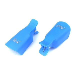 Oiko Store  10pcs blue 10pcs Nail Art Soak Off Cap Clip UV Gel Polish Remover Wrap Tools Plastic Nail Art Tips for Fingers Nail Polish Remover Manicure