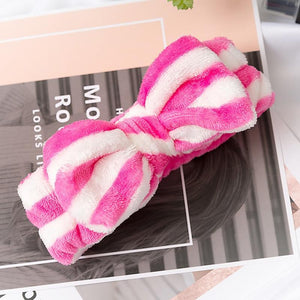 Oiko Store  11 2019 New Letter OMG Headbands for Women Girls Bow Wash Face Turban Makeup Elastic Hair Bands Coral Fleece Hair Accessories