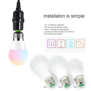 Oiko Store  110V 220V E27 RGB LED Bulb Lights 5W 10W 15W RGB Lampada Changeable Colorful RGBW LED Lamp With IR Remote Control+Memory Mode