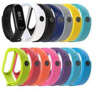 Oiko Store  11colors New Replacement Silicone Wrist Strap Watch Band For Xiaomi MI Band 4 3 Smart Bracelet New Watch Strap Smart Accessories