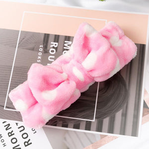 Oiko Store  13 2019 New Letter OMG Headbands for Women Girls Bow Wash Face Turban Makeup Elastic Hair Bands Coral Fleece Hair Accessories