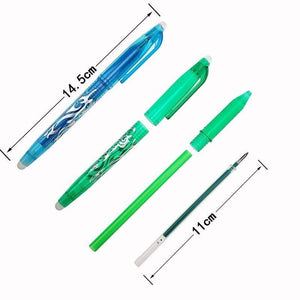Oiko Store  1Pc New 0.5mm Erasable Pen 1 pcs Refills Colorful 8 Color Creative Drawing Tools Student Writing Tools Office Stationery