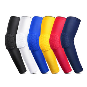 Oiko Store  1PCS Honeycomb Sports Elbow Support Pads Training Brace Protective Gear Elastic Arm Sleeve Bandage Basketball Volleyball rugby