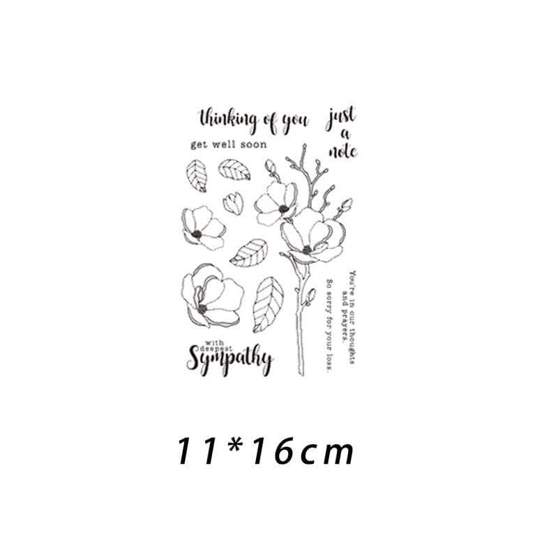6 X With Sympathy Scrapbooking FREE POSTAGE OFFER Cardmaking Die Cuts