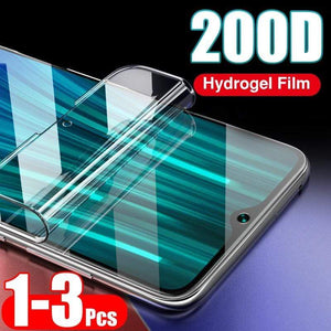 Oiko Store  200D Curved Full Cover Hydrogel Film For Xiaomi Redmi Note 8 7 6 Pro 8T 7A 8A Soft Screen Protector For Redmi K20 Pro Glass Film
