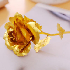 Oiko Store  24k Gold Foil Plated Everlasting Rose