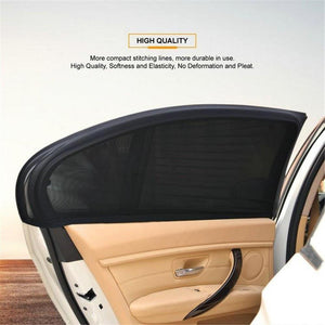 Oiko Store  2Pcs Car Window Cover Sunshade Curtain UV Protection Shield Sunshade Shield Window Protector Window Car Accessories (103 50cm)
