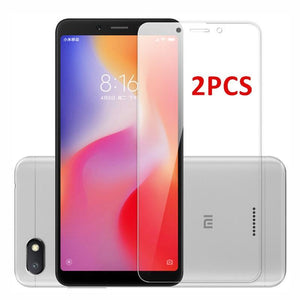 Oiko Store  2PCS For Glass Xiaomi Redmi 7A 6A 6 Screen Protector Tempered Glass For Xiaomi Redmi 6 Glass Redmi 6A Protective Phone Film