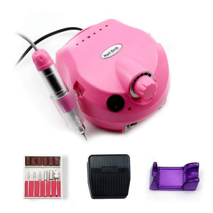 Oiko Store  35000-Pink 35000/20000 RPM Electric Nail Drill Bits Set Mill Cutter Machine For Manicure Nail Tips Manicure Electric Nail Pedicure File