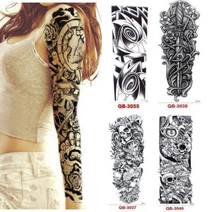Oiko Store 3Pcs Temporary Tattoo Sleeve Waterproof Tattoos