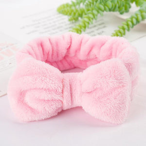Oiko Store  4 2019 New Letter OMG Headbands for Women Girls Bow Wash Face Turban Makeup Elastic Hair Bands Coral Fleece Hair Accessories