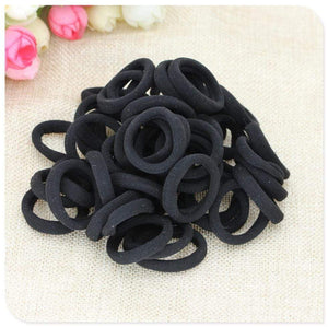 Oiko Store  40 Pc Girl elastic hair bands Black White Hair accessories 2019 Gum For Hair ponytail Rubber Bands holder gumki do wlosow isnice