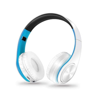 Oiko Store  4white blue New Portable Wireless Headphones Bluetooth Stereo Foldable Headset Audio Mp3 Adjustable Earphones with Mic for Music