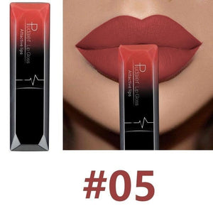 Oiko Store  5 Hot Sales Waterproof Nude Matte Velvet Glossy Lip Gloss Lipstick Lip Balm Sexy Red Lip Tint 21 Colors Women Fashion Makeup Gift