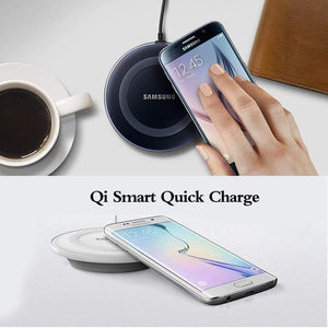 Oiko Store  5V/2A QI Wireless Charger Charge Pad with micro usb cable For Samsung Galaxy S7 S6 EDGE S8 S9 S10 Plus for Iphone 8 X XS MAX XR