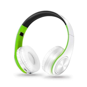 Oiko Store  5white green New Portable Wireless Headphones Bluetooth Stereo Foldable Headset Audio Mp3 Adjustable Earphones with Mic for Music