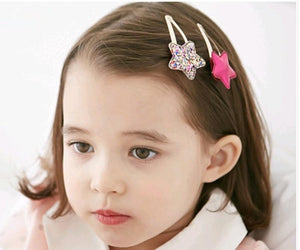 Oiko Store  67Color 2PC lovely Children Hair Clips BB Hair Pins Heart Children Barrettes Hair accessories Head Wear