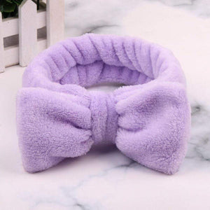 Oiko Store  7 2019 New Letter OMG Headbands for Women Girls Bow Wash Face Turban Makeup Elastic Hair Bands Coral Fleece Hair Accessories