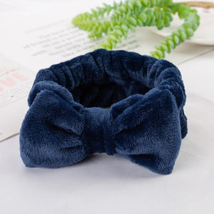Oiko Store  8 2019 New Letter OMG Headbands for Women Girls Bow Wash Face Turban Makeup Elastic Hair Bands Coral Fleece Hair Accessories