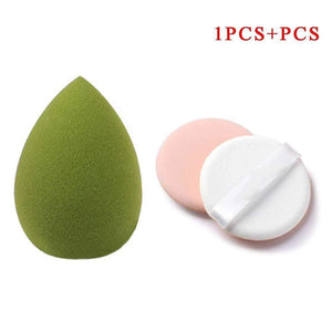 Oiko Store  Amy Green Makeup Sponge Professional Cosmetic Puff For Foundation Concealer Cream Make Up Blender Soft Water Sponge Wholesale p34