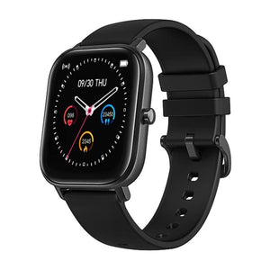 Oiko Store  Black COLMI P8 1.4 inch Smart Watch Men Full Touch Fitness Tracker Blood Pressure Smart Clock Women GTS Smartwatch for Xiaomi