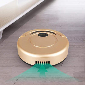 Oiko Store  Black/Gold Rechargeable Automatic Smart Robot Vacuum Cleaner Cleaning Sweeper