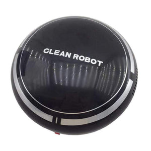 Oiko Store  Black Mini Smart Robot Vacuum Cleaner Powerful Suction Smart Clean Wall Edge