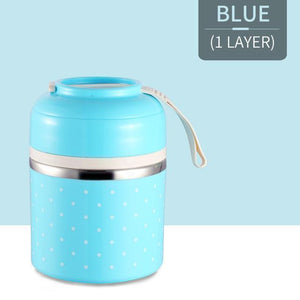 Oiko Store  Blue 1 Layer FOODYBOX - LIMITED EDITION LUNCH BOX