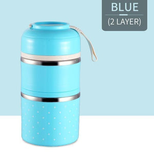 Oiko Store  Blue 2 Layer FOODYBOX - LIMITED EDITION LUNCH BOX
