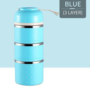 Oiko Store  Blue 3 Layer FOODYBOX - LIMITED EDITION LUNCH BOX