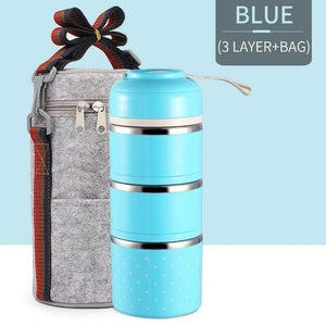 Oiko Store  Blue 3 With Bag FOODYBOX - LIMITED EDITION LUNCH BOX
