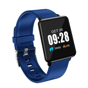 Oiko Store  Blue XANES® J10 1.44'' IPS Color Touch Screen IP67 Waterproof Smart Watch Heart Rate Monitor Multiple Sports Sports Modes Fitness Exercise Bracelet