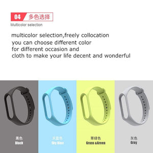 Oiko Store  Bracelet for Xiaomi Mi Band 4 3 Sport Strap watch Silicone wrist strap For xiaomi mi band 3 4 accessories Miband 3 4 Strap
