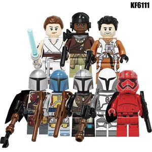 Oiko Store  Building Blocks Wars Bricks Darth Vader Yoda Rey PoE Dameron Mandalorian Jango Fett Drabatan Figures For Children Toys KF6111