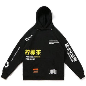 Oiko Store  China style Sweatshirts hooded hoodies Hip Hop Skateboard letters print Beige drawstring Autumn Winter Pullover hoody free ship
