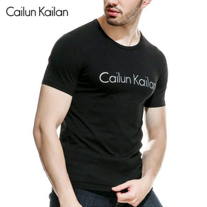 Oiko Store  Cotton casual CAILUN KAILAN printing men's T-shirt top fashion short-sleeved men's T-shirt men's Tshirt shirt men's T shirt 2019