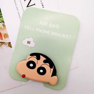Oiko Store  Crayon Shinchan Wholesale Socket Universal Mobile Phone Stretch Bracket Cartoon Air Bag Phone Expanding Phone Stand Finger Car Phone Holder