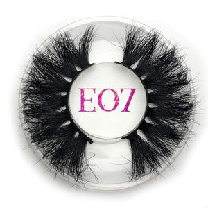 Oiko Store  E07 round case Mikiwi 25mm False Eyelashes Wholesale Thick Strip 25mm 3D Mink Lashes Custom Packaging Label Makeup Dramatic Long Mink Lashes