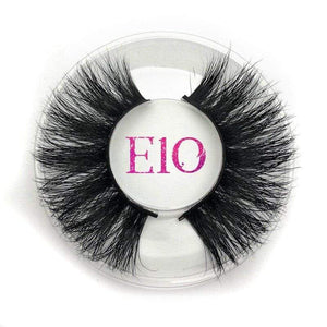 Oiko Store  E10 round case Mikiwi 25mm False Eyelashes Wholesale Thick Strip 25mm 3D Mink Lashes Custom Packaging Label Makeup Dramatic Long Mink Lashes