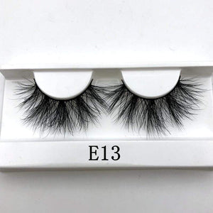 Oiko Store  E13 white tray Mikiwi 25mm False Eyelashes Wholesale Thick Strip 25mm 3D Mink Lashes Custom Packaging Label Makeup Dramatic Long Mink Lashes