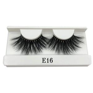 Oiko Store  E16 white tray Mikiwi 25mm False Eyelashes Wholesale Thick Strip 25mm 3D Mink Lashes Custom Packaging Label Makeup Dramatic Long Mink Lashes