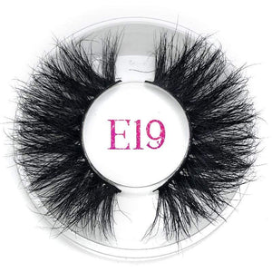 Oiko Store  E19 round case Mikiwi 25mm False Eyelashes Wholesale Thick Strip 25mm 3D Mink Lashes Custom Packaging Label Makeup Dramatic Long Mink Lashes