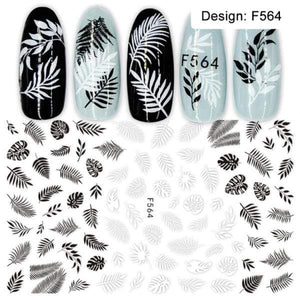Oiko Store  F564 1pcs 3D Nail Slider Black Russia Letter Sticker Decals  Flamingo Design Adhesive Manicure Tips Nail Art Decorations CHF554-563