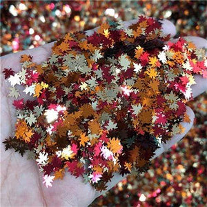 Oiko Store  Fall Leaf Mixed KM GLITTER Top Popular Best Sales Chunky Mixed Fairy Face Body Craft Rose Sequins Manicure Rose Gold Glitter for Nail Decoration